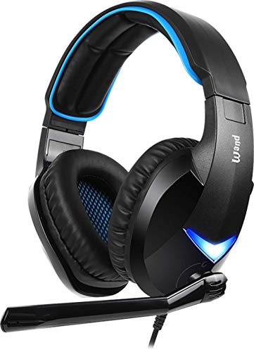 SADES PC Gaming Headset -Wand- 7.1 Surround Sound USB Input Plug Over-Ear Headphones with Noise Isolating Microphone and Adjustable Headband for Computer Gamers