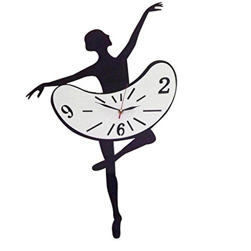 Homyl Orologio da Parete Disegno Ragazza Ballerina Watch al Quarzo Casa Arredmanento Accessori