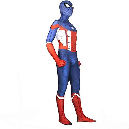 NEW EXOTIC 3D Costume Natalizio Stretto di Halloween per Abbigliamento Adulto Capitan America Spiderman Costume Cosplay Collant Siamesi di Lycra XXL