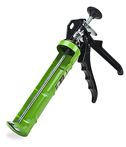 Mivos Pistola para cartuchos de 310 ml con marco giratorio para silicona y acrílico/silicona con relación de empuje 20:1