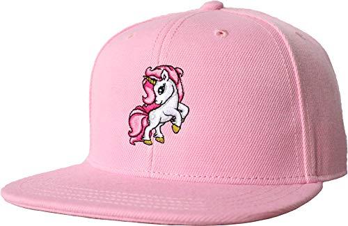 Mädchen Cap: Mein Einhorn - Baseball-Cap Kids Kinder-Cap Kind Kappe Mütze Girl Baseballkappe Hut - Schirm-mütze Größenverstellbar Motiv Sonnen-Hut Unisex - Pink Rosa - Unicorn Rainbow (One Size)