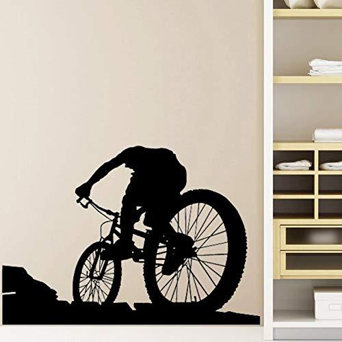 Tianpengyuanshuai Mountainbike Store Wandaufkleber Benutzerdefinierte Sportplakat Vinyl Wandtattoos Dekorative Wandbilder Autofenster Decals58X83cm