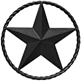 Black Barn Star – Metal Stars for Outside, Texas Star Metal Wall Décor for House, Iron Rustic Vintage Decoration, Western Country Home Farmhouse Wall Art Outdoor Decorations (12')