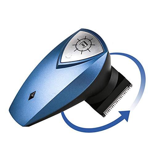 FEENGG 360° Haarschneidemaschine (Edelstahlklingen mit Klingen-Technologie, 4 Aufsteckkämme, Netz-/Akkubetrieb, Lithium) Haarschneider