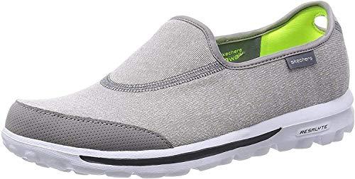 Skechers Performance Women's Go Walk Impress Memory Foam Slip-On Walking Shoe, Gray, 10 M US