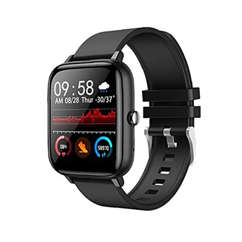 Smart Uhren Wasserdichte Schrittzähler.Smart Uhr Wasserdichte Sport Smartwatch Herzfrequenz-Tracking-Gerät Armbanduhr Schwarz