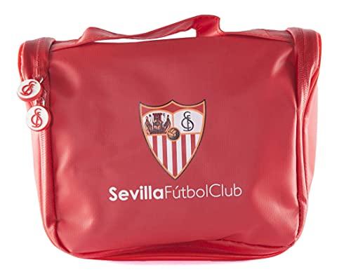 Sevilla Football Club Trousse de Voyage – Produit Officiel de l'équipe, avec Cintre pour Suspendre et Plusieurs hauteurs pour Ranger des Articles de Toilette