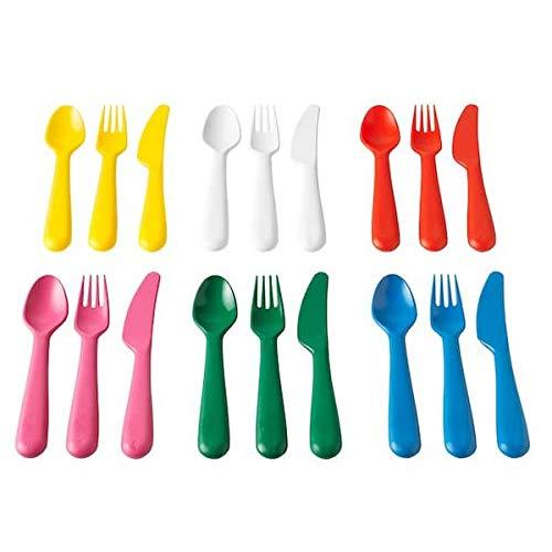 KALAS Besteck, Polypropylene, Mehrfarbig 18 x 14 x 3 cm, 18-Einheiten (Neue Serien)