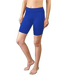 351b8f136057 Women's Spandex Exercise Compression Workout Shorts Royal Blue Medium Aero  Tech Designs