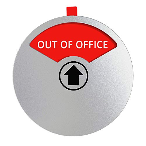 YARKOR Out of Office Sign for Office Door, Privacy Sign Do Not Disturb / Welcome Please Knock Office Conference Sign for Door House Wall, Magnetic and Strong Adhesive Option, 4 Inch (Round)