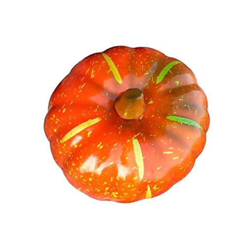 Lorigun Simulazione Artificiale Zucca Grande 7,8 Pollici Verdura realistica Falso Verdura Halloween Decorazione Domestica Azienda Decorazione Festiva