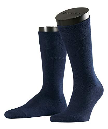 ESPRIT Herren Socken Basic Easy 2-Pack - 80% Baumwolle, 2 Paar, Blau (Marine 6120), Größe: 43-46
