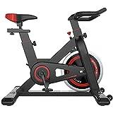 Cyclette Spinning,Elettromagnetico Bicicletta Spinning Bike con Monitor Sensori delle Pulsazioni,Cyclette da Allenamento Manubrio e Sedile a Resistenza Regolabile Macchine per Training Aerobico
