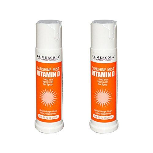 Dr. Mercola Sunshine Mist 5000 IU Vitamin D3 Spray - 2 Bottles - 0.85...