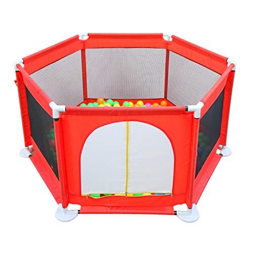 Clôture de jeu pour Enfants Piscine À Balles Marine Parc De Jeu Barrière De Protection pour Enfants À L'intérieur Aire De Jeux Intérieure Rouge (Color : Red, Size : 129x129x66cm)