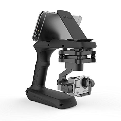 Yuneec SteadyGrip mit Stabilisierungsgimbal inkl. Griffadapter für verwacklungsfreie Videos aus der Hand, kompatibel mit GoPro Hero 3, 3+ und 4, inklusive Aluminium Koffer