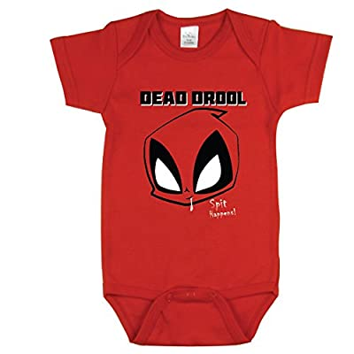 Funny Baby Clothes, Baby Clothing, Baby Shower Gift Ideas, Dead Drool, Red 0-3 m from