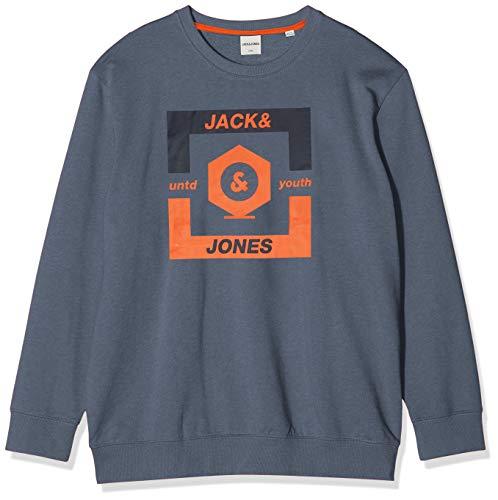 JACK & JONES Herren Jcostrong Sweat Pullover, Blau(China BlueMELANGE), XXXXXX-Large