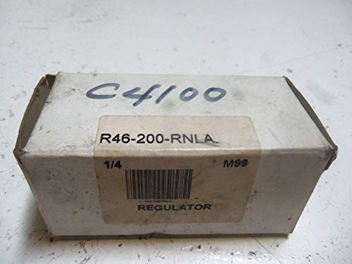 NORGREN R46-200-RNLA 1/4IN NPTF, Outlet 125 PSI MAX, Regulator, Inlet 250PSI MAX