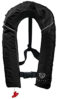 SALVS Automatic/Manual Inflatable Life Jacket for Adults | PFD for Kayak, Fishing, Sailing | Life Vest for Men & Women | Floatation Swim Vest
