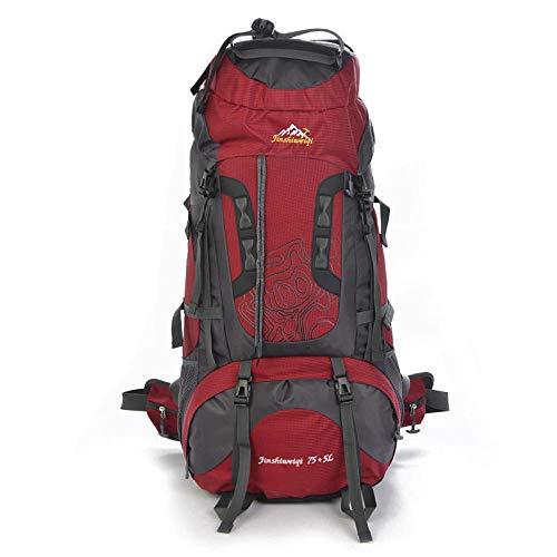 Trekking Randonnée Camping pour Homme Femme Sac à Dos Plein air Sac à Dos Sac à Dos Professionnel 80 + 5L imperméable pédestre Alpinisme Ruck Sack Water Resistang Sac de Bagage