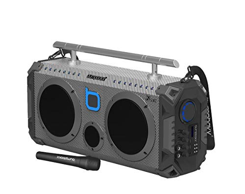 Bumpboxx Bluetooth Boombox Flare8 Carbon Fiber | Retro Boombox with Bluetooth Speaker | Rechargeable Bluetooth Speaker