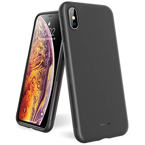 UNBREAKcable Funda para iPhone XS MAX - [Anti-choques, Antideslizante, Ultrafino] Suave TPU Mate Anti-Rasguño Resistente Protección Funda para iPhone XS MAX (6,5 Pulgadas) - Negro Mate