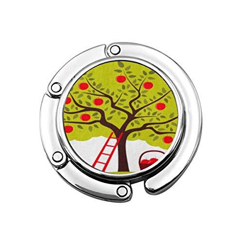 Lindo Monedero Plegable Gancho para Colgar Fruta marrón Escalera para árboles frutales Cesta de Frutas Huerto Verde Bolso Gancho Bolso de Mesa