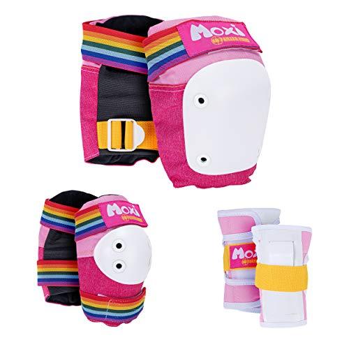 187 Killer Pads Moxi Skate Knee Pads, Elbow Pads, and Wrist Guards, Six Piece Pad Set, Pink, Large/X-Large