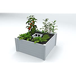 Vita Gardens VT17101 4x4 Composting Raised Garden Bed 1 Uses FAR less water than in-ground gardens (up to 70%) perfect for drought areas Composts and grows vegetables in same system Use daily kitchen Scraps reducing household waste by up to 30%