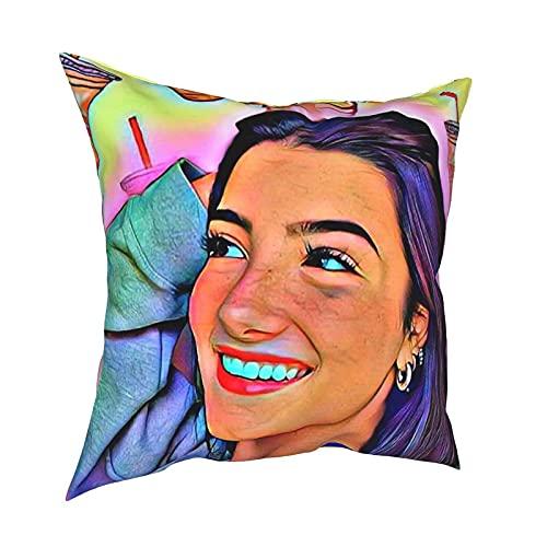Gersafy Ch_Arli Poster DX_Melio Funda de Almohada para sofá y Silla Decoraciones de Lino Un Juego de 1 Funda de Almohada