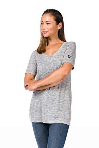 super.natural Langes, oversize Damen T-Shirt, Mit Merinowolle, W OVERSIZE TEE, Größe: M, Farbe: Hellgrau