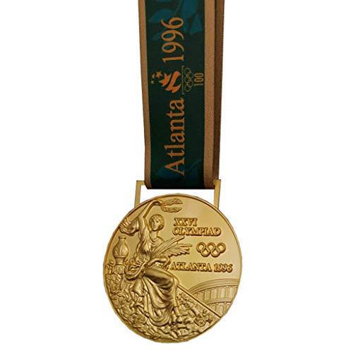 Réplica de Emblema Conmemorativa olímpica, 1996 American Atlanta Juegos Olímpicos Medalla de Oro Réplica, Medalla de aleación de Zinc, Medalla de colección