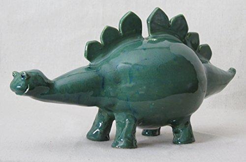 Dinosaur Green and Blue Stegosaurus Coin Bank (ST119)
