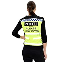 Equisafety Air Adjustable Polite Waistcoat - High Viz Yellow/Black, Medium Equisafety Polite Reflective Waistcoat has been proven time and time again that it really does slow the traffic down. This is a very stylish and comfortable waistcoat. It is c...