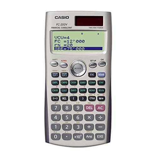 カシオ 金融電卓 プロフェッショナル仕様 ハードケース付 10桁 FC-200V