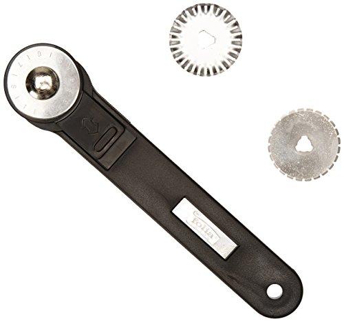 folia 23002 - Schneidroller, Rollmesser, inklusive Ersatzklingen für Glattschnitt, Wellenschnitt und Perforierschnitt