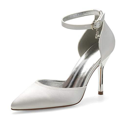 Gycdwjh 9cm Zapatos de Novia, Sexy Zapatos de Novia para Mujer Asakuchi...