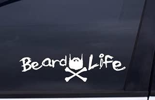 BEARD LIFE Sticker WHITE