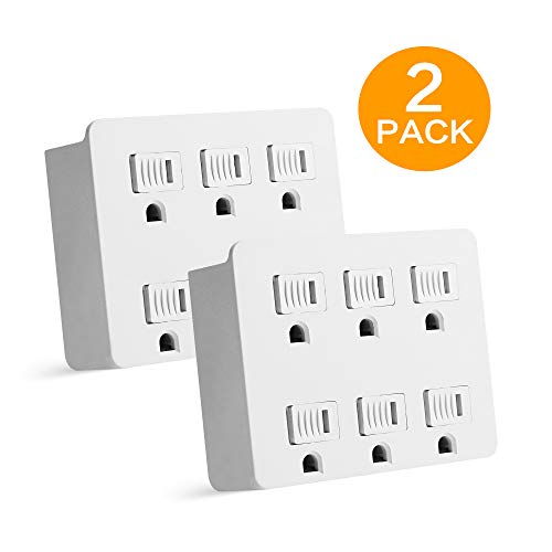 Oviitech 6 Outlet Wall Tap Adapter $7.34 (63% Off)