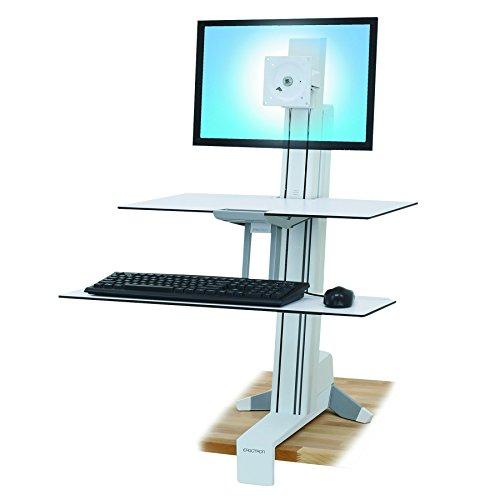 Ergotron WorkFit-S Dual Work-Surface standaard voor LCD-schermen 24-inch