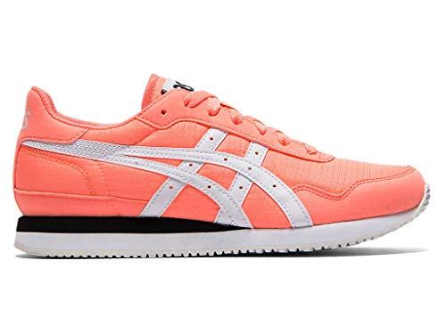 ASICSTIGER Damen Tiger Runner Laufschuhe, Pink (Papaya/Weiß), 36.5 EU