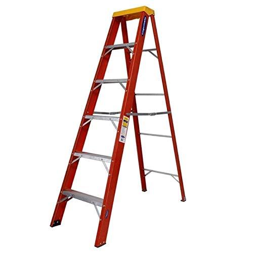 Escada de Fibra de Vidro Tesoura 6 Degraus 2