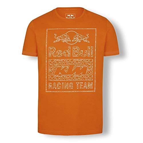 Red Bull KTM Mosaic Graphic Camiseta, Rojo Hombre Medium Top, KTM Factory Racing Original Ropa & Accesorios