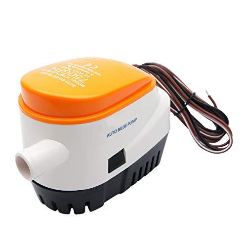 Moligh doll Automatische 12V Bilge Pumpe 750Gph mit Internem Schwimmer Schalter Auto Wasser Boot Submersible Auto Pump mit Schwimmer Schalter Marine/Bait Tank/Fish