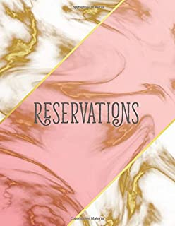 Reservations: Hostess table Reservation Book For Restaurant | 365 Day Guest Booking Diary | Undate calendar Journal | year 2020 with elegant marble gold cover (Restaurant Reservations Booking Log)