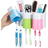 iHave Toothbrush Holder Wall Mounted with Large Capacity