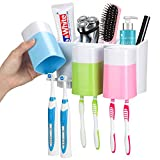 iHave Toothbrush Holder Wall Mounted with Large Capacity, Easy Install, Durable, Kids...