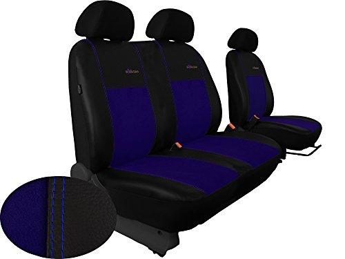 POK-TER-BUS Sitzbezug für Busse/Transporter Maßgefertigt 1 + 2er Sitzbank im Design ECKLUSIVE (Mercedes Vito 639, Blau)
