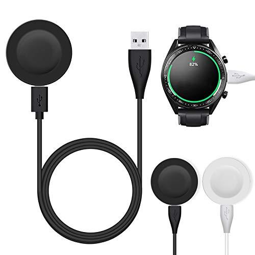 TWH Cargadores para Huawei Watch GT2 Pro Cargador Inalámbrico Para Huawei GT2 Pro Cargador Cable de Carga para Huawei GT2 Cargador Portátil Accesorios (negro)